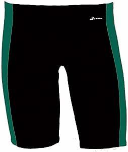 Dolfin 男式海洋面板游泳裤,绿色/黑色,34
