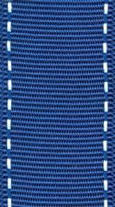 Caspari Grosgrain Stitch Wired Ribbon, Marine Blue and White