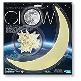 3 X 4M Glow-In-The-Dark Moon and Stars - 1 Moon/12 Stars