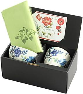 山下工艺 礼品套装 蓝玫瑰 12.5×12.5×H12.5cm 马克杯&饭碗 附东袋 45014470