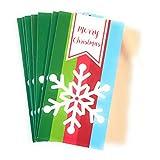 Christmas House 圣诞节现金&礼品卡袋 - 一套8个,带金属/闪光效果(Snowflake)