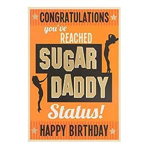 "Carte Blanche 男女通用卡片""The Birthday of Sugar Daddy"