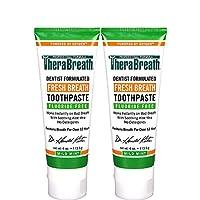 TheraBreath 推薦清新口氣口腔干燥無氟牙膏 輕度薄荷,4盎司(約118.3毫升)(2包)