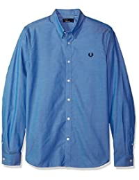 FRED PERRY 男式胶带图案衬衫