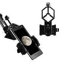 Eyeskey 通用电话定位范围适配器支架兼容望远镜,聚光范围,双筒望远镜,106 克 (3.75 盎司)