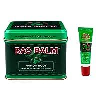 Bag Balm Bundle Animal Tin 8 Oz and On-The-go Tube 0.25 Oz