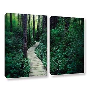 "ArtWall 2 Piece Elana Ray's Earth Path Gallery Wrapped Canvas Set, 24 x 36"", Multicolor"