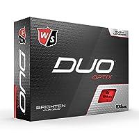WILSON 男士 Duo Optix 高尔夫球 红色 Einheitsgröße