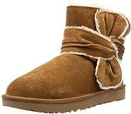 UGG 女士迷你溢出接縫蝴蝶結靴