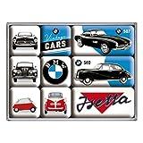 怀旧艺术 83078 宝马复古汽车磁铁套装(9 件)