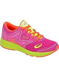 ASICS Kids' noosa FF GS 跑步鞋 Pink Glo/Flash Yellow 4.5 M US
