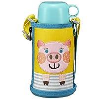虎牌水杯 600ml 直饮 杯盖两用 不锈钢瓶 带袋子 小精灵 小猪图案 MBRB06GYP Tiger 日本正品
