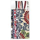 和纸可爱澄 型染色风 和纸书签 和纹图案 6种花样1张 6张装