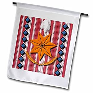 edmond hogge JR 印*安人–切诺基 Nation–旗帜 12 x 18 inch Garden Flag