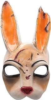 Cafele 恐怖游戏 日光死人杀手面具恐怖兔子服装道具成人万圣节角色扮演黄色