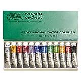 WINSOR NEWTON 水彩颜料 专业水彩 12 色套装 5 毫升 12色套装