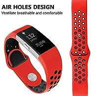 TVT Sport Fitbit Charge 2 表带,可调节运动表带适用于 Fitbit Charge 2 智能手表健身腕带,*佳礼物圣诞节,*佳选择