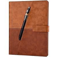 ELFINBOOK X系列智能可重复书写笔记本子日记本 App备份学生电子记事本 (豪华版 A5/140页 星光棕)