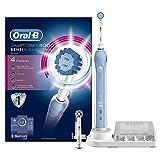 Oral-B 欧乐B 博朗 智能系列4000 敏感清洁 可充电电动牙刷 浅蓝 两只刷头 - 英国版 敏感清洁双刷头浅蓝色
