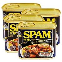 【4罐】世棒spam荷美尔黑胡椒味午餐肉罐头火锅/泡面/手抓饼/食材/可即食 (黑胡椒)