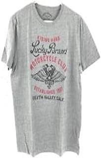 Lucky Brand 男式图案 T 恤(灰色,骑马硬摩托车俱乐部,M 码)