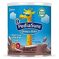 PediaSure 雅培小安素 Grow & Gain 儿童营养奶昔 Non-GMO,含蛋白质、DHA、抗氧化剂、维生素和矿物质,巧克力味,14.1盎司/400克,6件