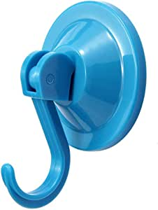 NL HOME 4 件装 Power Lock 吸盘钩 真空挂钩 适用于平整光滑墙壁表面毛巾浴袍 浴室厨房淋浴大衣 浅蓝色