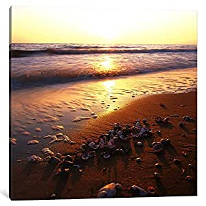 iCanvasART 7089-1PC6-18x18 Sunrise at The Ocean Canvas Print by Carl Rosen, 1.5 x 18 x 18-Inch