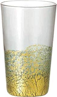 Toyo Sasaki Glass 江户玻璃 金箔玻璃 玻璃杯 日本制造 灰色・金色 100ml 10923GS