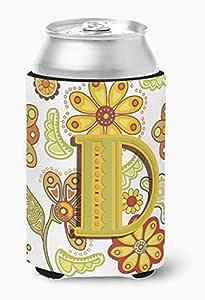 字母 C 花卉芥末和*高男孩饮料隔热器 Hugger CJ2003-CTBC