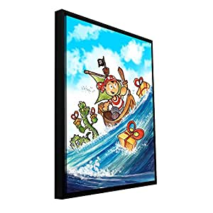 ArtWall Luis Peres 'Kid Pirate' Floater Framed Gallery-Wrapped Canvas, 18 by 24-Inch, Holds 16.5 by 22.5-Inch Image