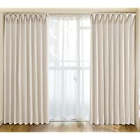 窗帘2片装 IP 黑白宽100cm × 高178cm IV 象牙色71204077