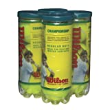 Wilson Championship Regular Duty Tennis Ball (4-Pack), Yellow