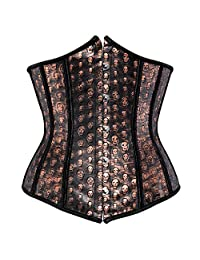 frawirshau 束腰紧身胸衣女士哥特式蒸汽朋克紧身胸衣束腰背心上衣