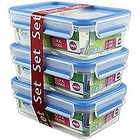 EMSA爱慕莎乐鲜系列塑料保鲜盒 508558 长方形3*1.0L 德国原装进口