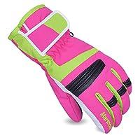 MARSNOW 男女滑雪手套户外零下30度防水保暖手套 冬季电动车骑行手套防寒手套