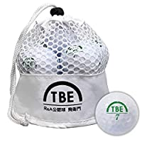 【Amazon.co.jp 限定】TOBIEMON(TOBIEMON) 高尔夫球 R&A公认球 2片 12球装 原创网眼包