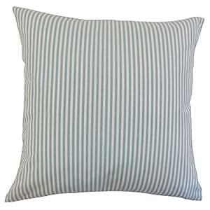 枕头系列 Ira 条纹枕头 水* 18 x 18 P18-M-FILLY-AQUA-C100