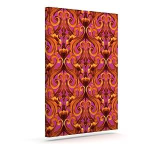 Kess InHouse Aimee St. Hill 交织洋红色户外帆布墙壁艺术,60.96 x 76.20 厘米