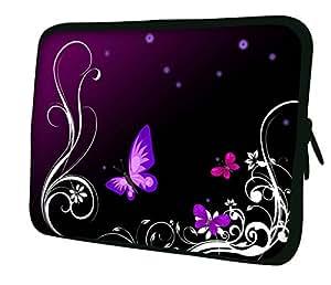 Luxburg 氯丁橡胶内胆包适用于 13 英寸笔记本电脑/笔记本电脑/平板电脑 - 蝴蝶艺术品