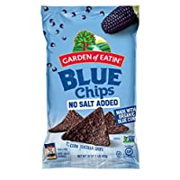 Garden of Eatin' 無鹽藍玉米脆玉米片, 16 盎司(453 g) (12件裝) (包裝可能與圖片不同)