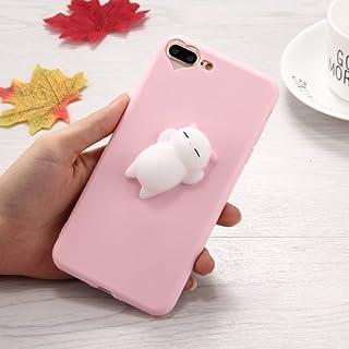 alsatek 保护壳塑料用于 iPhone 7 Plus ,图案 3D 软糖粉熊
