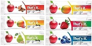 That's it Zesty Variety,12个装(2 个苹果+蓝莓,2 个苹果+草莓,2 个苹果+芒果,2 个苹果+珍珠和姜黄,2 个苹果+芒果+樱桃色)
