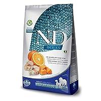 Farmina N&D 海洋代码,南瓜和橙子中号和Maxi 干狗粮,5.5磅(约154克)