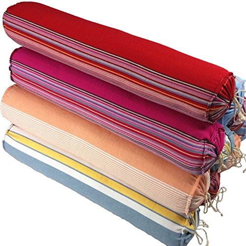 Lu Ruifuホームテキスタイル寝具コットン古い荒い手作り頚部枕ネック枕そば殻キャンディー枕ロングカラーランダムな長さ45〜50センチメートル直径約10センチ