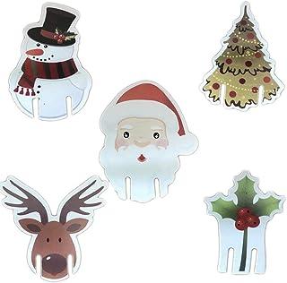 圣诞假期圣诞老人驯鹿雪人酒杯马克笔适用于派对和活动(红色 20 件)