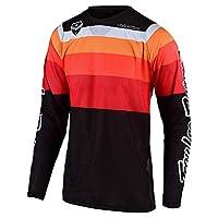 Troy Lee Designs 男式越野摩托車越野賽 SE AIR 光譜運動衫(S 碼,黑色/白色)