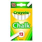 Crayola Chalk, White, 12-Pack