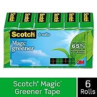 Scotch Magic Greener 胶带,标准宽度,精心设计,哑光饰面,1.91 x 900 cm,盒装,6 卷 (812-6P)