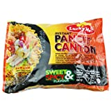 Lucky Me! Instant Sweet and Spicy Pancit Canton Noodles, 60 g, Pack of 24